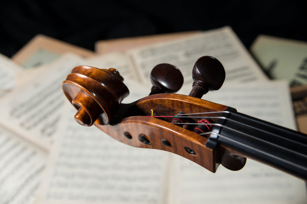 Nahaufnahme Cello-Schnecke