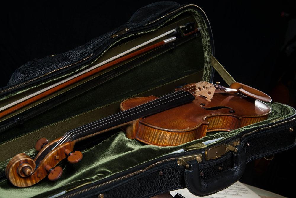 Geige im Geigenkoffer