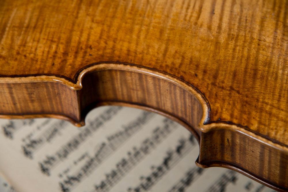 Rückansicht einer Geige
